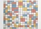 Mondriaan (1872-1944)Mondrian - Schaakbord - Postkaart - QA025-1