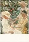Jan Th.Toorop (1858-1928)  -  Trio Fleuri - Postkaart -  QA061-1
