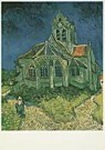 Vincent van Gogh (1853-1890)  -  van Gogh/Church at Auvers - Postkaart -  QA092-1