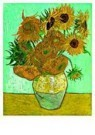 Vincent van Gogh (1853-1890)  -  12 Sunflowers in a vase - Postkaart -  QA096-1