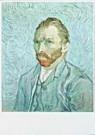Vincent van Gogh (1853-1890)  -  van Gogh/Portrait de l'artiste - Postkaart -  QA100-1