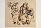 Rembrandt Van Rijn (1606/7-'69 -  Rembrandt/Abraham, Hagar/BvB - Postkaart -  QA113-1