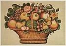 Anoniem,  -  Anonymous/Basket of Fruit/NGW - Postkaart -  QA203-1