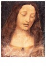 Leonardo da Vinci (1452-1519)  -  Head of Christ 2 - Wenskaarten-set -  QA375-1