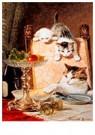 H. Ronner-Knip (1821-1909)  -  Les Ameurs des Fromage - Wenskaarten-set -  QA386-1