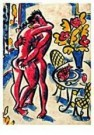 Eddy Varekamp (1949)  -  Heer dame en vis. - Postkaart -  QC282-1