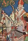 Rie Cramer (1887-1977)  -  Sinterklaas, ca.1935 - Postkaart -  QSINT010-1
