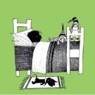 Fiep Westendorp (1916-2004)  -  F.Westendorp / Jip ziek in bed - Postkaart -  UFW009-1