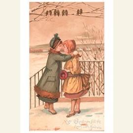 Kindjes in de sneeuw