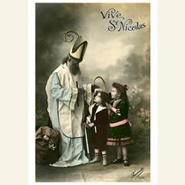 Sinterklaas staat bij kinderen