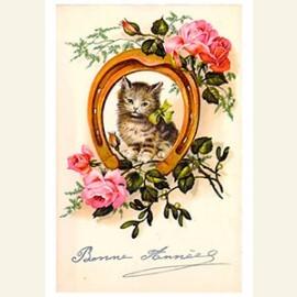 Katje in een hoefijzer (gelukkig nieuwjaar)
