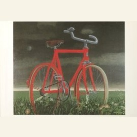 Fiets in landschap