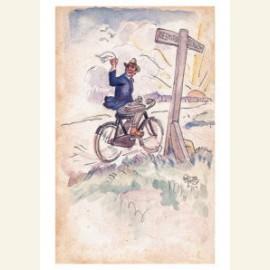 Op de fiets van Beemster naar Bergen, 1922