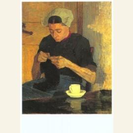 Larense boerin met breiwerk, 1892