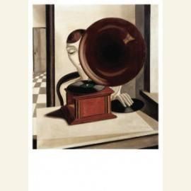 Vrouw met grammofoon