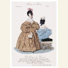 Modeprent uit 1835 uit de Petit Courrier des Dames