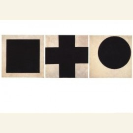 Zwart vierkant, zwart kruis, zwarte cirkel, 1923