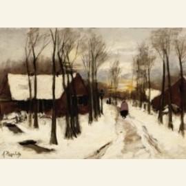 Sneeuw in Laren