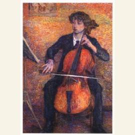 Cello spelende vrouw