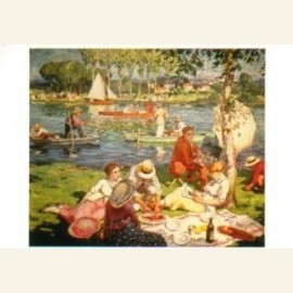 Picknick aan de oever van de Seine