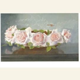 La France-rozen in aardewerken schaal