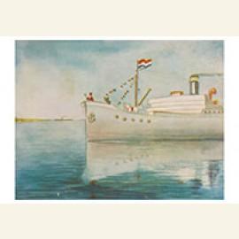 Sinterklaas komt aan met de boot