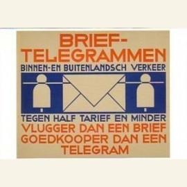 Brievenbusbiljet PTT-Brieftelegrammen, 1933