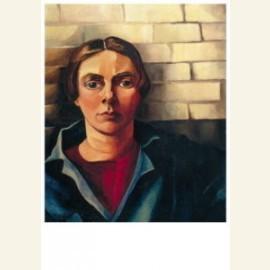 Zelfportret tegen muur - Self-portrait against