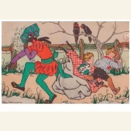 Prentenbriefkaart uit de serie St. Nicolaas,1925