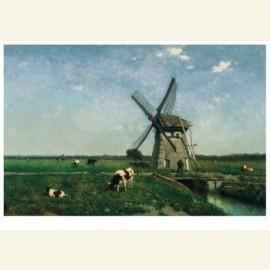 Landschap met molen bij Schiedam, 1873