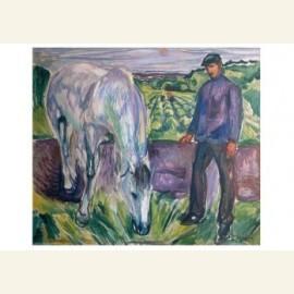 Man met paard, 1918