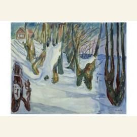 Bomen zich aftekenend tegen de sneeuw, 1923
