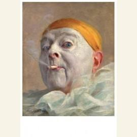 Zelfportret als pierrot - Self-portrait as pierrot