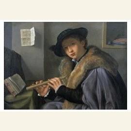 Portret van een jonge man met fluit, ca.1525