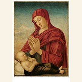 Maria in adoratie voor het slapende Christuskind