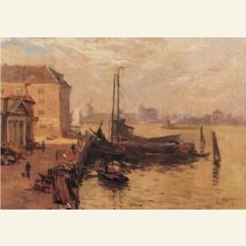 Bomkade te Dordrecht, 1920