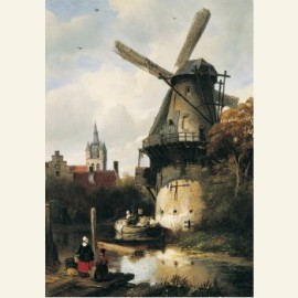 Molen met gezicht op Delft, 1836