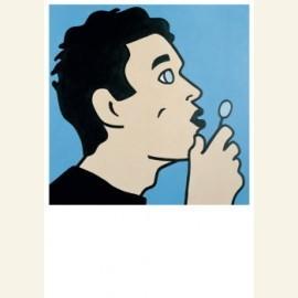 Zelfportret met luchtbel (2 delen), 2000