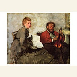 Violinist And Young Woman, Ca.1871
