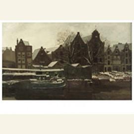 De Nieuwe Teertuinen Te Amsterdam (Winter): Amsterdam In De