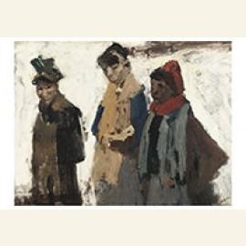 Drie Vrouwen In De Sneeuw, Amsterdam