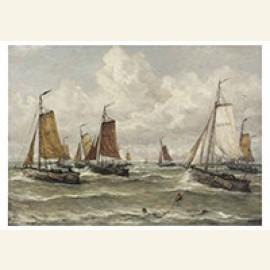 Vissersvloot Te Scheveningen: Een Scheveningse Visserijvloot