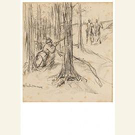 """Entwurf Zur Illustration """"Anekdote Aus Dem Letzten Krieg - D"""