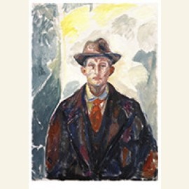 Self-Portrait With Hat And Red Tie