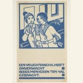 Prentbriefkaart voor de Stadsreiniging Amsterdam,