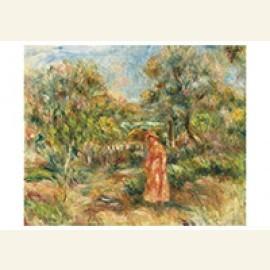 Femme Dans Un Paysage À Cagnes