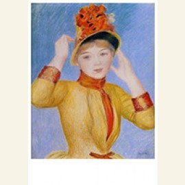 Buste van een vrouw (gele jurk)