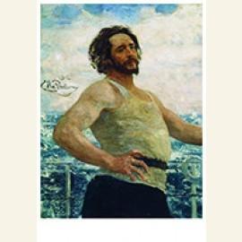 Portrait Of Writer Leonid Nikolayevich Andreyev On A Yacht,