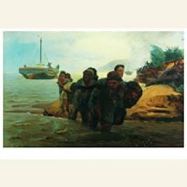 Vervoerders kruisen waden,1872
