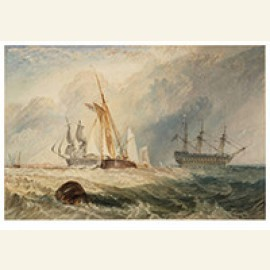 Helvoetsluys Ships Going Out To Sea, 1832